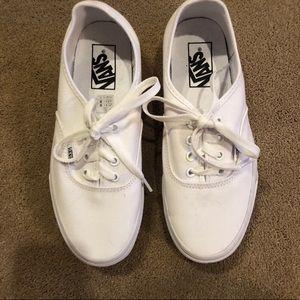 VANS white lace up shoes